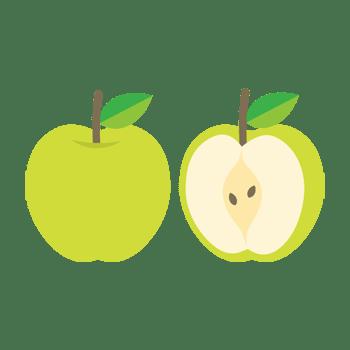 青リンゴのイラスト