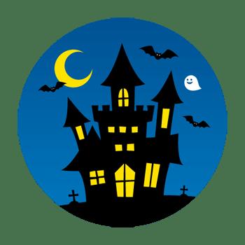 ハロウィンのお城のイラスト