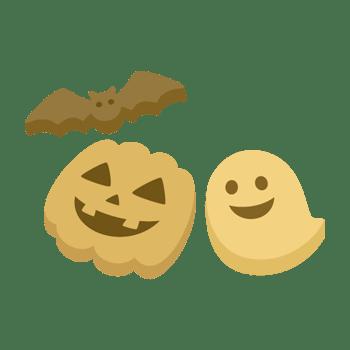 ハロウィンのクッキーのイラスト