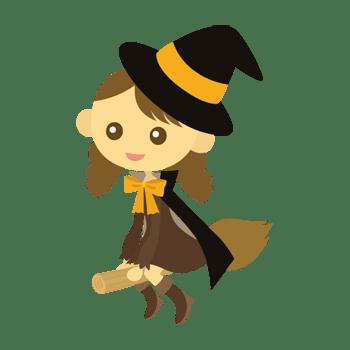 魔法使いの女の子のイラスト